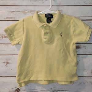Ralph Lauren Yellow Polo Shirt Size 12 Months